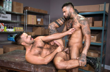 "Teddy Torres and Rikk York flip-fuck in ""24 Hour Boner"" part one from Raging Stallion"