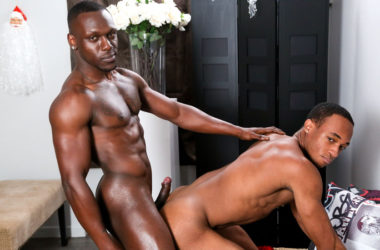 "Trent King and Leo Brooks flip-fuck in ""Hung for the Holidays"" from Next Door Studios"