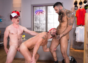 "Rikk York, Nate Stetson and Jett Rink fuck in ""24 Hour Boner"" part seven"