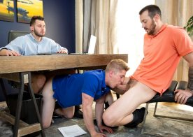 "Mark Long & Johnny Hill fuck Chris Blades in ""All Under The Table"" from Next Door Studios"