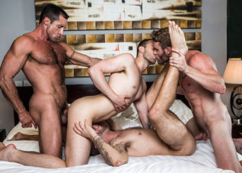 Nick Capra, Shawn Reeve, Tryp Bates and Jackson Radiz in a New Year's Eve foursome
