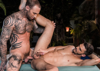 """Aaden Stark takes Dylan James' raw cock in """"Fit As Fuck"""" part 4 from Lucas Entertainment"""