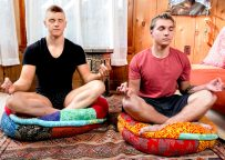 """Yoga buddies Elye Black and Alex Tanner fuck in """"Manly Meditation"""" from Next Door Studios"""
