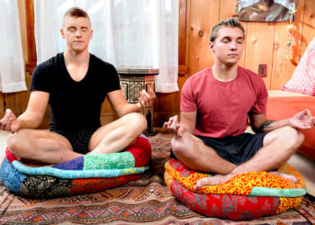 "Yoga buddies Elye Black and Alex Tanner fuck in ""Manly Meditation"" from Next Door Studios"