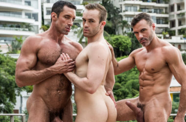 "Nick Capra, Manuel Skye and Jackson Radiz suck and fuck in ""Fit As Fuck"" part two"