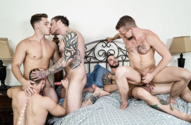"Jordan Levine, Cliff Jensen, Jay Austin, Jacob Peterson & Paul Canon in ""Gaymates"" part 3"