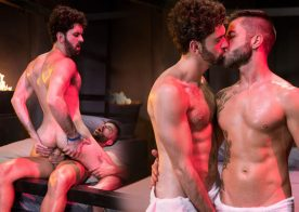 """Tegan Zayne rides Hector De Silva's cock in """"Clothing Optional"""" part 1 from Raging Stallion"""