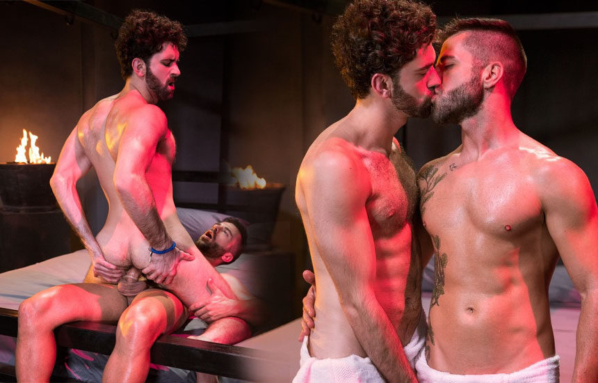 "Tegan Zayne rides Hector De Silva's cock in ""Clothing Optional"" part 1 from Raging Stallion"