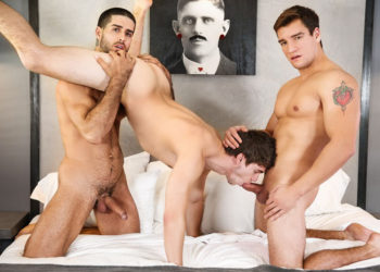 "Diego Sans and Jordan Boss tag-team Will Braun in ""Horny Husbands"" from Men.com"