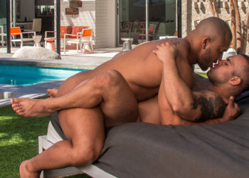 "Uncut muscle top Jason Vario bangs Lorenzo Flexx in ""Beef"" part two from Titan Men"