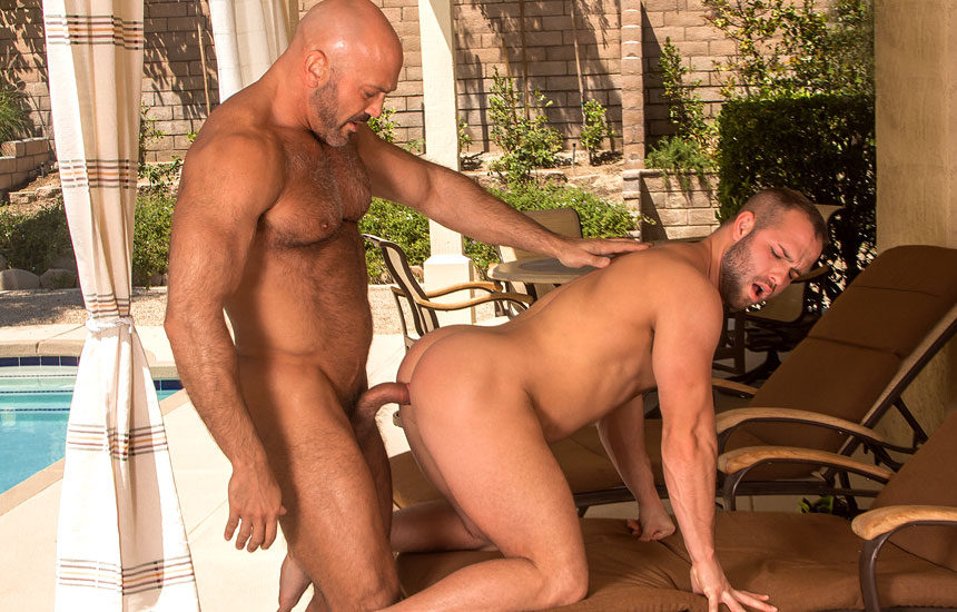 "Luke Adams takes Jesse Jackman's thick cock in ""Beef"" part three from Titan Men"