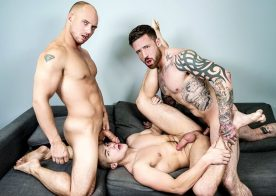 """Jake Porter gets fucked by John Magnum and Jordan Levine in """"2 For 1"""" from Men.com"""