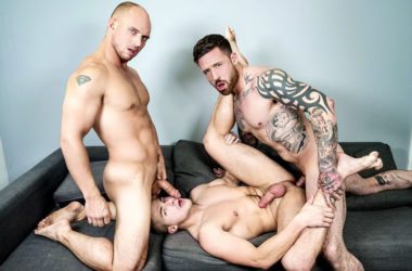 "Jake Porter gets fucked by John Magnum and Jordan Levine in ""2 For 1"" from Men.com"