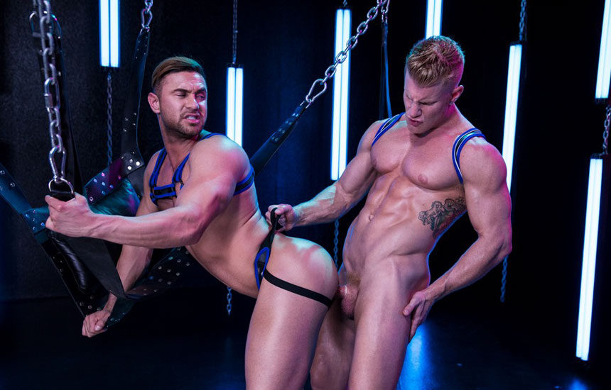"Muscle stud Johnny V plows Josh Conners' ass in ""Get Lit"" part two from Hot House"
