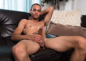 Odin Strokes plays with his big uncut cock for Next Door Studios