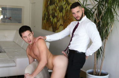 Teddy Bryce fucks his sexy new assistant Liam Aries at Pride Studios