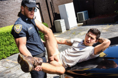 "Officer Ashton McKay fucks Vadim Black in ""Dick Patrol"" part one from Men.com"