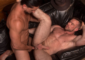 "Liam Knox takes Dakota Rivers' big cock in ""Dick Danger 2"" part four from Titan Men"