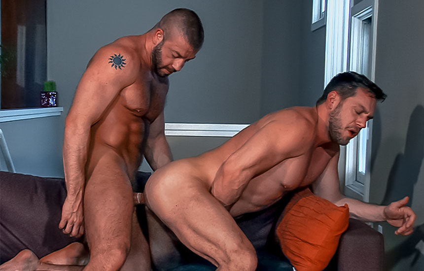 "Hunter Marx and Hans Berlin flip-fuck in ""Dick Danger 2"" part two from Titan Men"