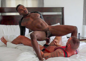 """Michael Roman and Pheonix Fellington flip-fuck in """"Plugged in Paradise"""" from Bromo"""