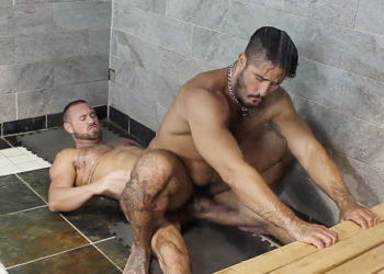 "Trey Turner takes Michael Roman's raw cock in ""Shower Breeders"" from Bromo"