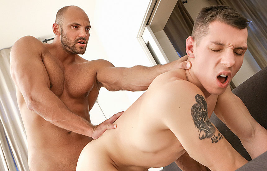 "Zack Hood dominates Peter Lipnik and fucks his bare ass in ""Cum Fun"""