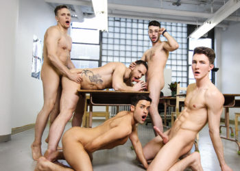 "Kit Cohen, Peter Pounder, Alex Neveo, Zack Hunter & Ethan Chase in ""Ass Controller"" pt 7"