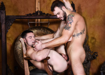 "Aspen bottoms for Cliff Jensen and takes his thick cock in ""Strip Tease"""