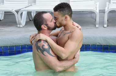 "Ethan Ayers fucks Beaux Banks in ""Dudes In Public 19 – Pool Deck"""