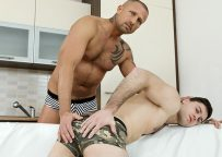 """Hot daddy Ricky raw-fucks Tomas Salek and cums in his mouth in """"Every Drop"""""""