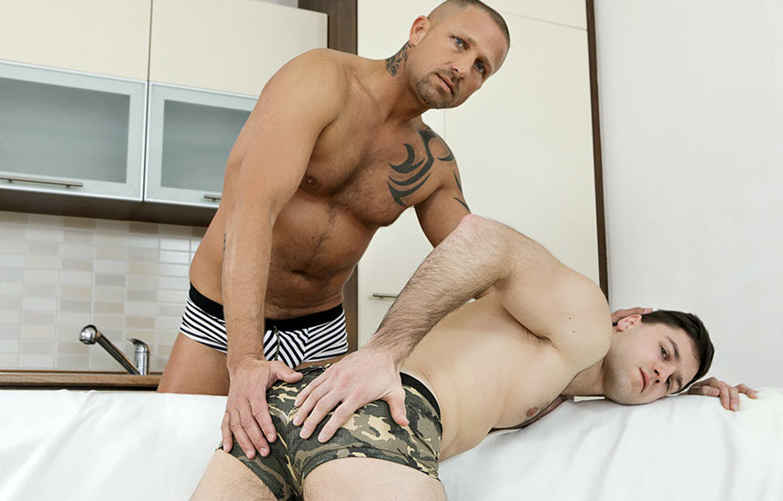 "Hot daddy Ricky raw-fucks Tomas Salek and cums in his mouth in ""Every Drop"""