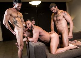Latin top Frank Tyron fucks Andy Star and Donato Reyes at Lucas Entertainment