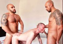 Adam Sahar and Francisco Sants double-penetrate Geo Dovek at TimTales