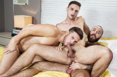 "Teddy Bear, Jackson Reed and Casey Jacks fuck in ""Imaginary Boyfriend"" part three"