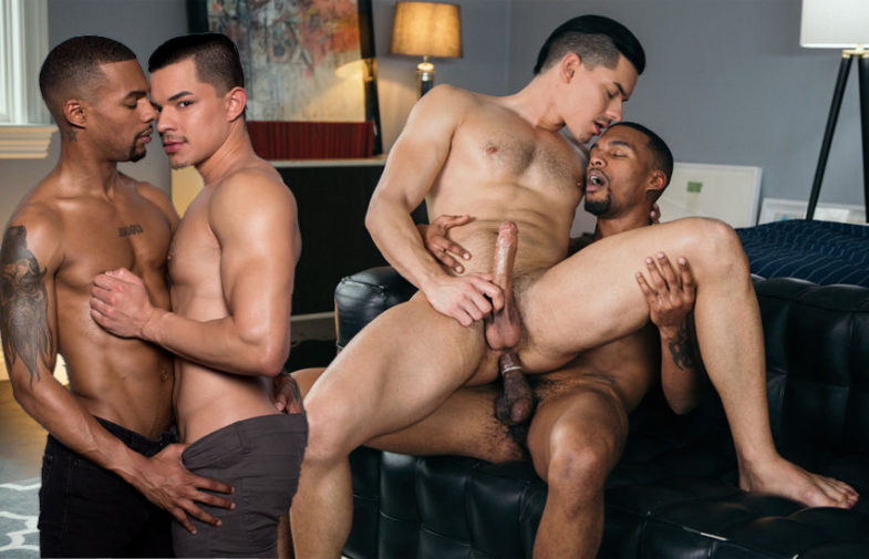 Hung muscle top Jacen Zhu rims and fucks Ethan Slade's ass at CockyBoys