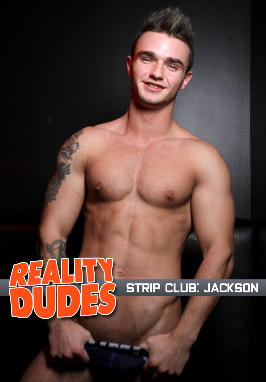 Jackson strokes his juicy cock for Reality Dudes