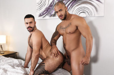 "Jason Vario fucks Teddy Torres' hairy ass in ""Open Relationship"" part two from Men.com"