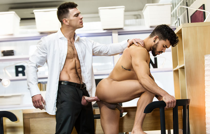 "Paddy O'Brian tests Pietro Duarte's ASSets in ""The Boss"" part one from Men.com"