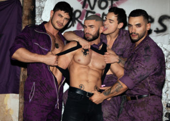 "CockyBoys: Gays run the world in Bruce LaBruce's ""Purple Army Faction"""