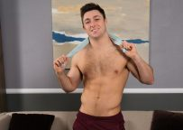 Sean Cody newbie Judas shoots two big loads, of which the latter hits his face