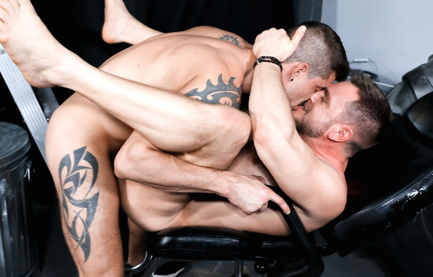"Hans Berlin takes a hard pounding from Sean Maygers in ""What's It Worth To You"""