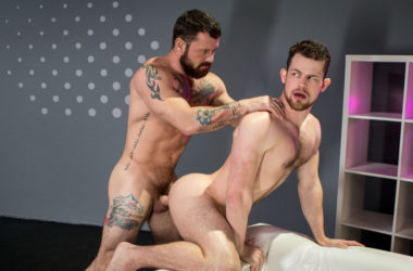"Muscle daddy Sergeant Miles fucks Kurtis Wolfe in ""Shut Up and Fuck Me"" part one"