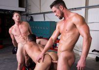 """Pierce Paris, Ryan Rose and Josh Conners fuck in """"Spot Me"""" part four from Hot House"""