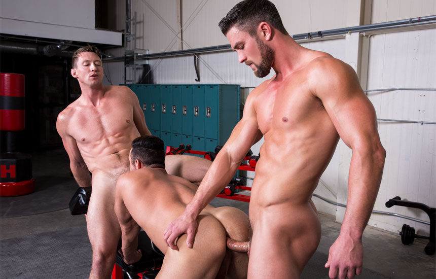 "Pierce Paris, Ryan Rose and Josh Conners fuck in ""Spot Me"" part four from Hot House"