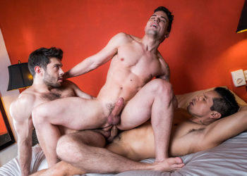"Alejandro Castillo and Ben Batemen double-fuck Dakota Payne in ""Up The Ass"" part one"
