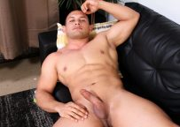 New Active Duty recruit Vincent plays with his hard cock and drops a nice load