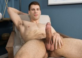 Slender newcomer Angelo rubs out two big loads for Sean Cody
