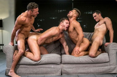 "Manuel Skye, Andrey Vic, Klim Gromov and Javi Velaro fuck in ""Up The Ass"" part three"
