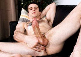 Donte Thick strokes his big cock and fingers his hole at Active Duty
