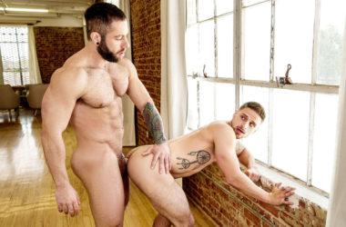 "Big and hairy stud Eddy Ceetee fucks Jackson Reed in ""Space Invaders"" part 3"